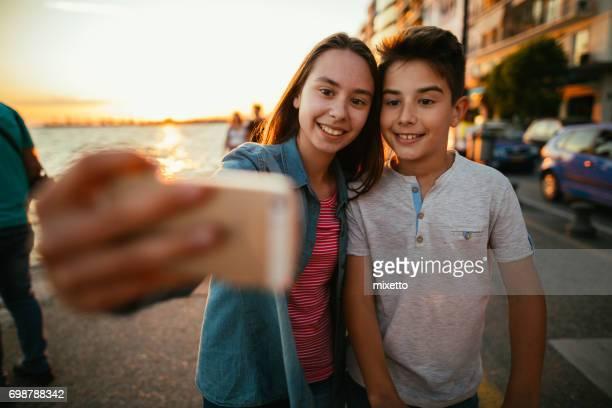 Selfie wirh smart phone