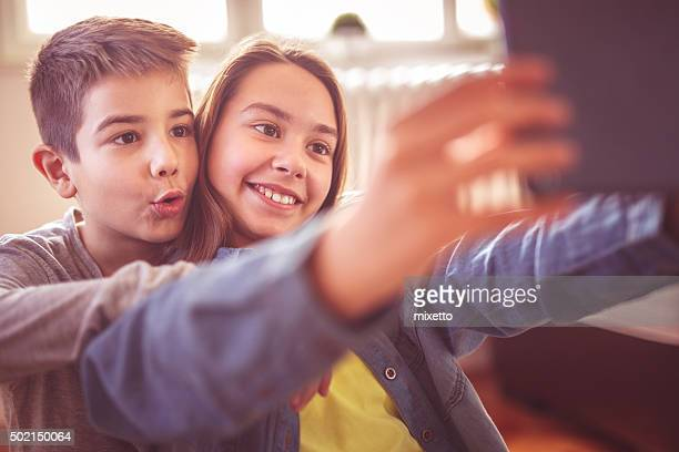 Selfie with brother
