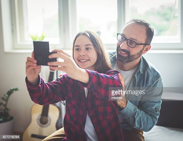 Selfie with father