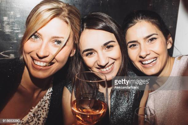 selfie with my girls - ladies' night stock pictures, royalty-free photos & images