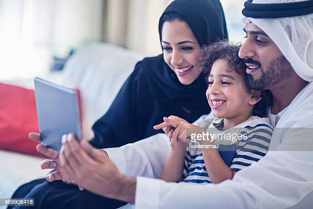 Selfie with the digital tablet