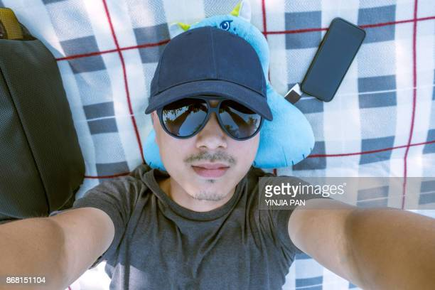 Selfie-portrait of a young man