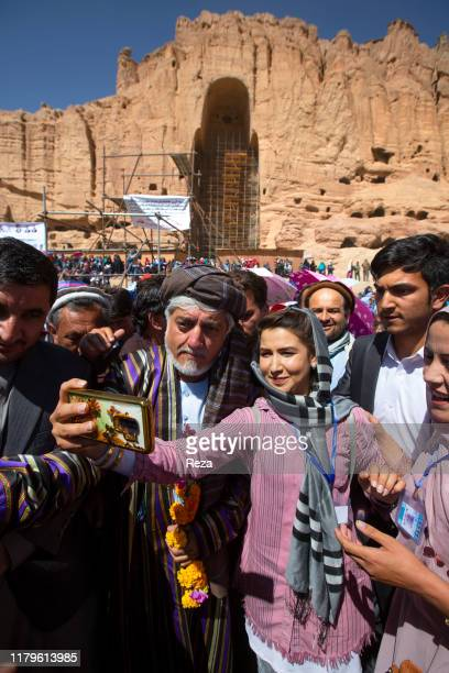 PROVINCE AFGHANISTAN SEPTEMBER 25 2019 Selfies during his presidential campaign tour after Dr Abdullah talked to thousands of people in front of the...