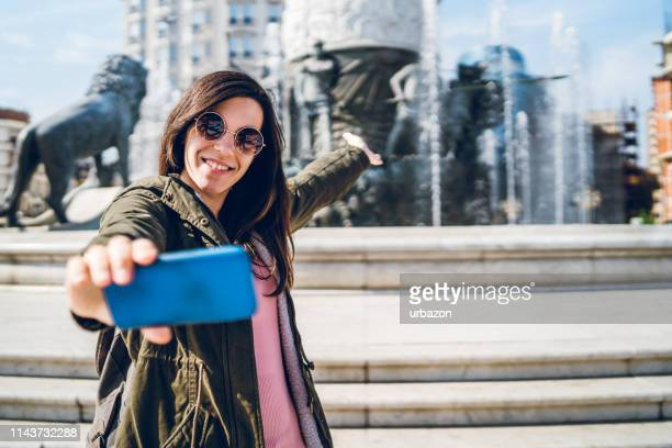 selfies in skopje, north macedonia - skopje stock pictures, royalty-free photos & images