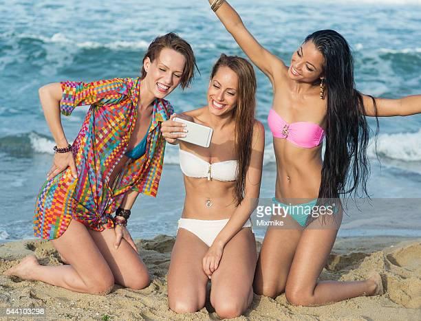selfies sur la plage