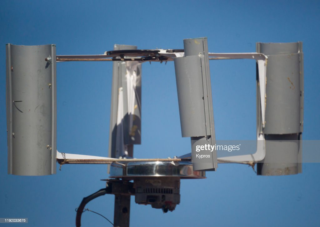 Selfmade Wind Turbine Using Car Alternator Did Not Work High Res Stock Photo Getty Images