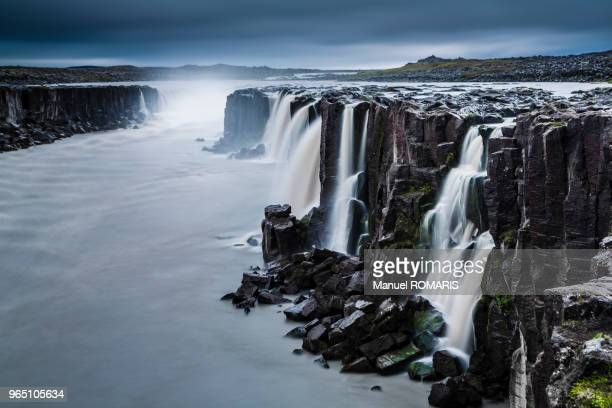 selfoss waterfall, iceland - selfoss stock photos and pictures