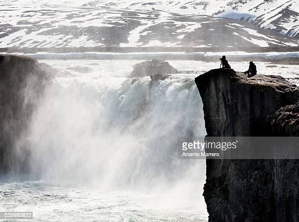 selfoss waterfall in iceland - selfoss stock photos and pictures