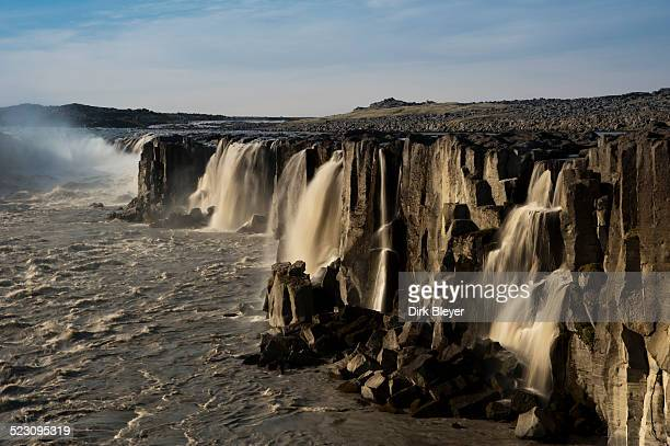 Selfoss waterfall on the Joekulsa a Fjoellum river, Norourland eystra, north-eastern Iceland, Iceland, Europe