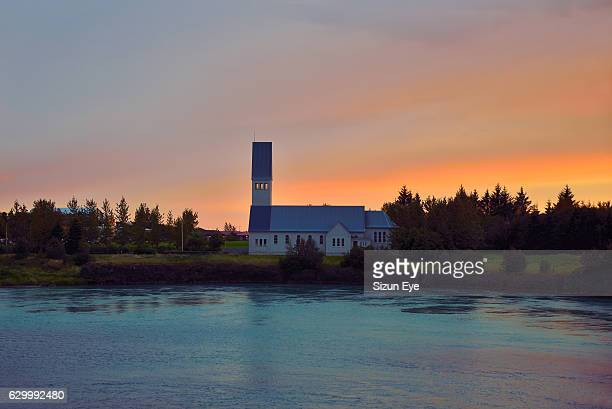 Selfosskirkja, the church at Selfoss town in south of Iceland.