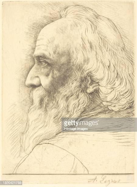 Self-Portrait, 12th plate. Artist Alphonse Legros.
