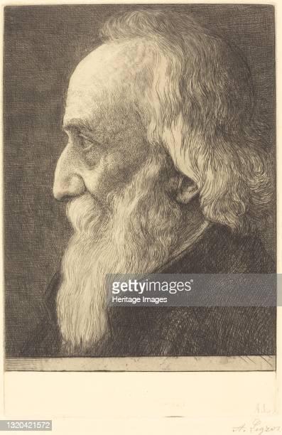 Self-Portrait, 13th plate, 1906. Artist Alphonse Legros.