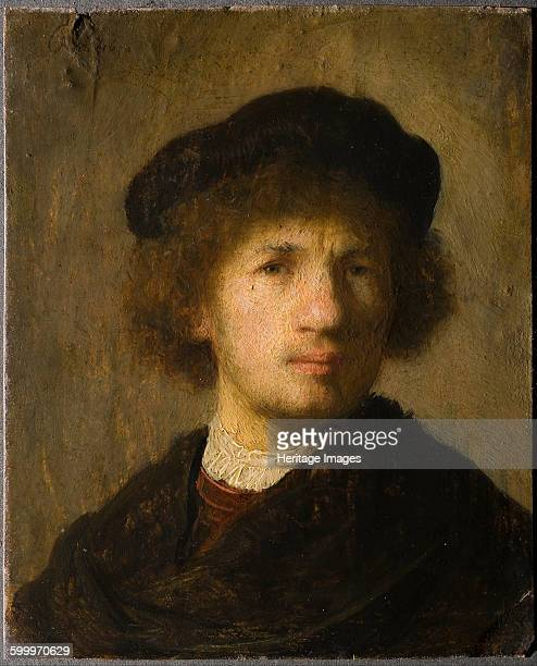 SelfPortrait 1630 Found in the collection of Nationalmuseum Stockholm Artist Rembrandt van Rhijn