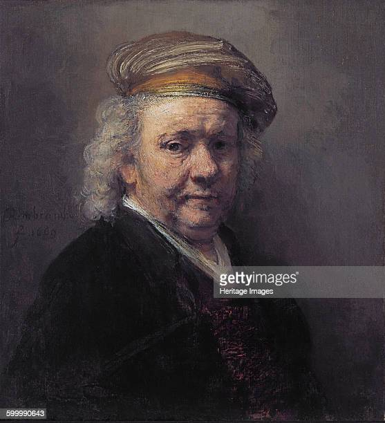 Selfportrait 1669 Found in the collection of The Mauritshuis The Hague Artist Rembrandt van Rhijn