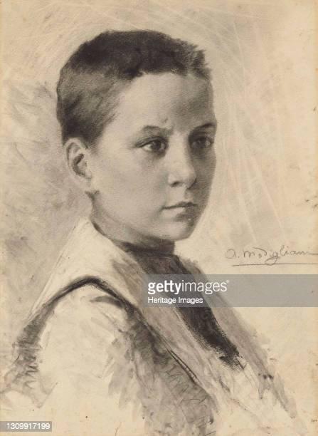 Self-Portrait, 1899. Private Collection. Artist Modigliani, Amedeo . .