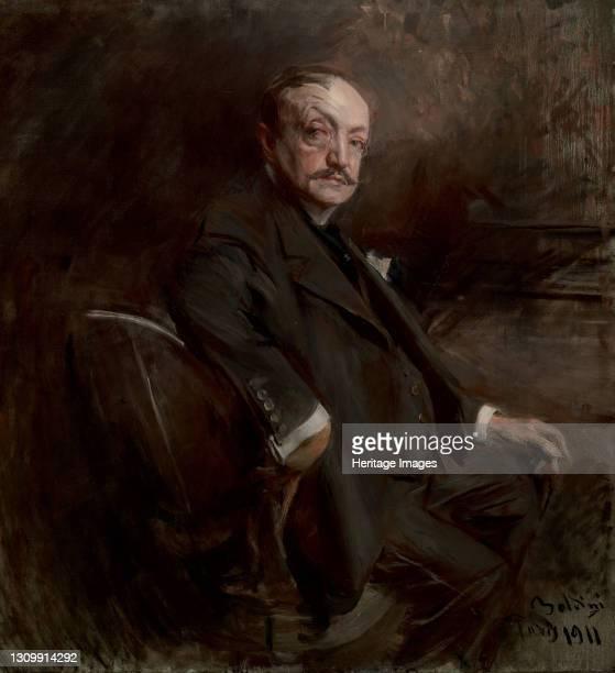 Self-Portrait, 1911. Found in the collection of Museo Giovanni Boldini, Ferrara. Artist Boldini, Giovanni . .
