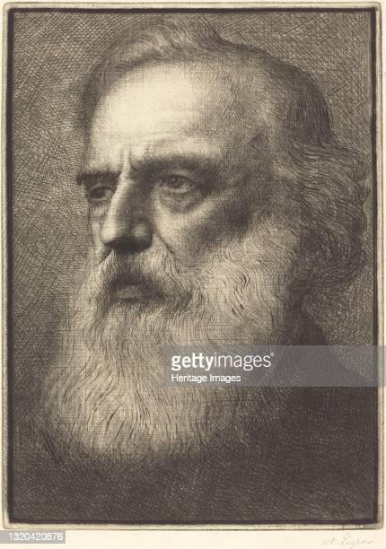 Self-Portrait, 4th plate. Artist Alphonse Legros.