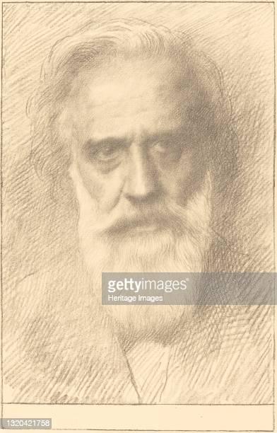 Self-Portrait. Artist Alphonse Legros.