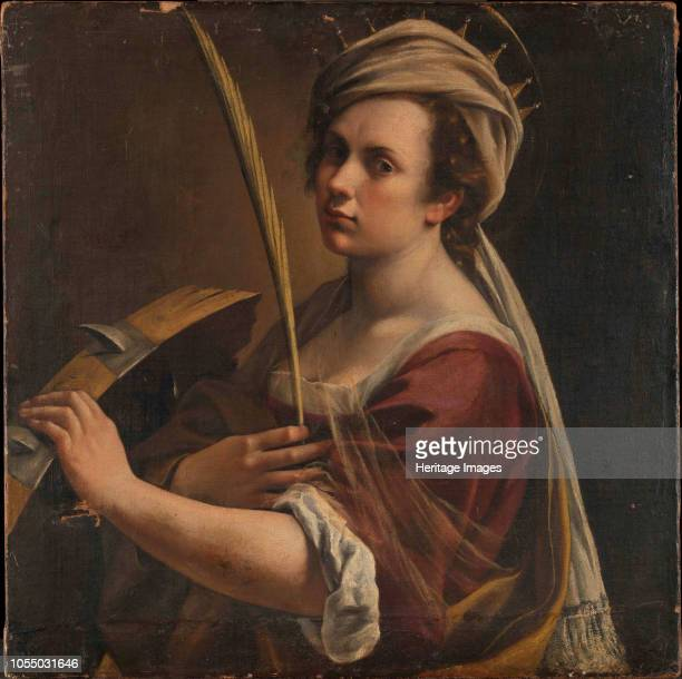 SelfPortrait as Saint Catherine of Alexandriacirca 1616 Found in the Collection of National Gallery London Artist Gentileschi Artemisia