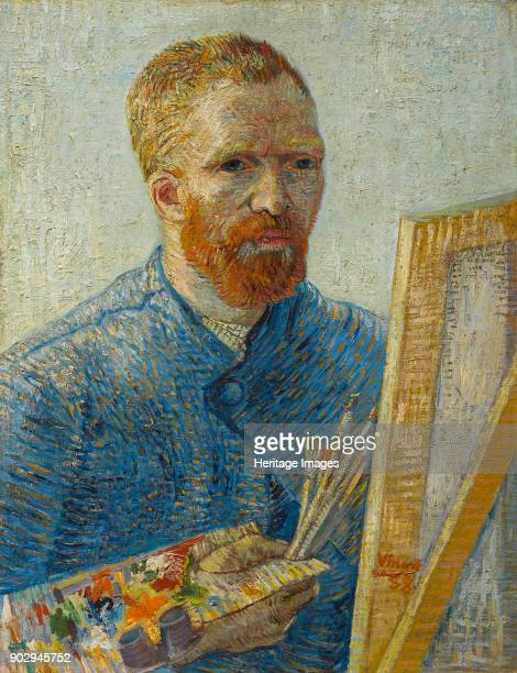 Selfportrait at the easel Found in the Collection of Van Gogh Museum Amsterdam