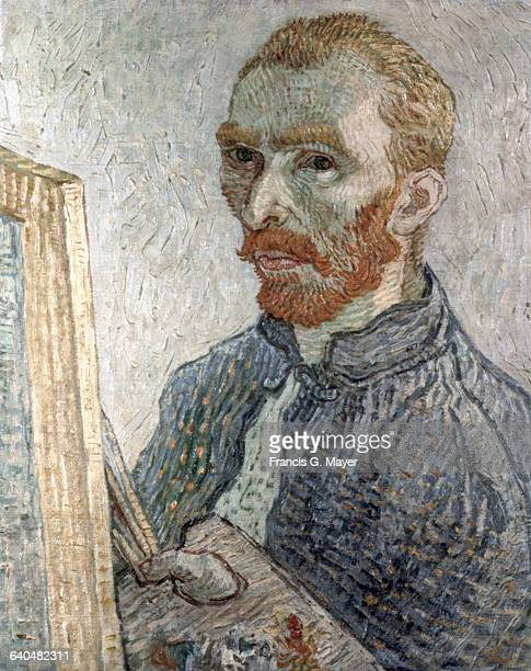 SelfPortrait Before His Easel Attributed to Vincent van Gogh
