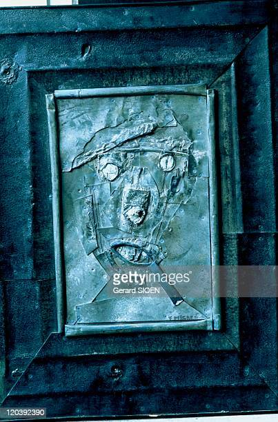 Selfportrait by Fernand Miche in Montpellier France His selfportrait is on display in his odd studiomuseum in Montpellier A zinc worker artist the...