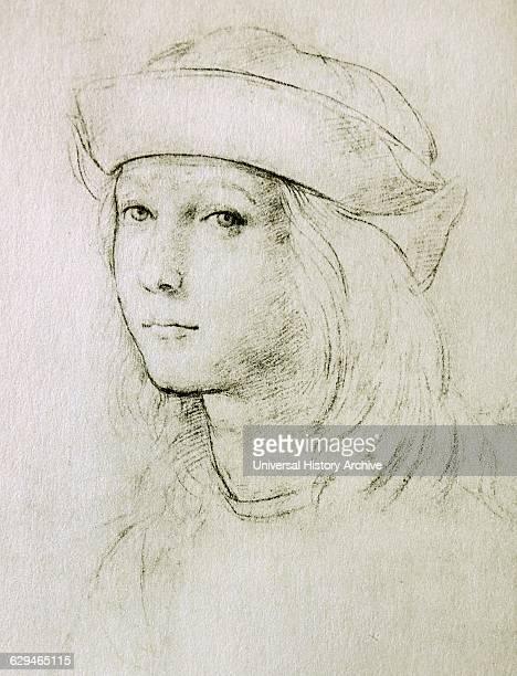 Self-Portrait by Raphael Sanzio 1483 – 1520;Italian painter and architect of the High Renaissance.