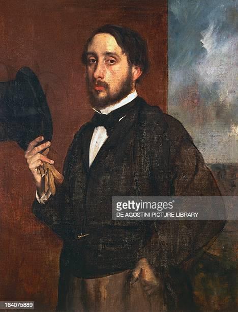 Selfportrait ca 1863 by Edgar Degas oil on canvas 92x69 cm Lisbon Museu Fundação Calouste Gulbenkian