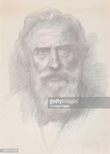 Self-Portrait, circa 1895. Artist Alphonse Legros.
