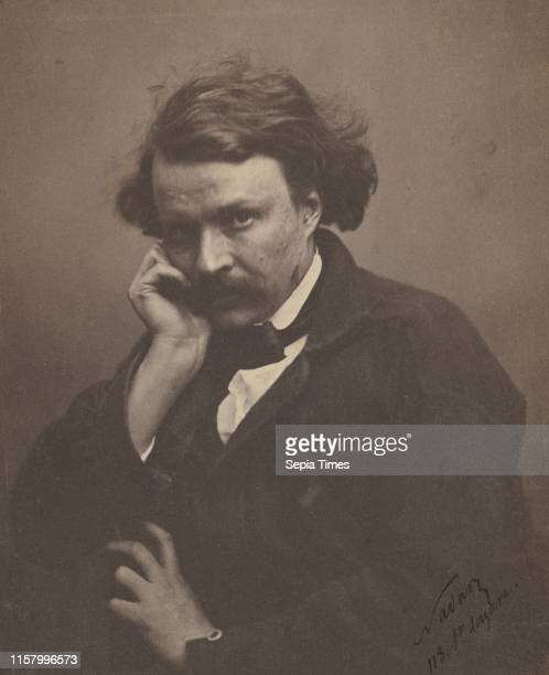 [SelfPortrait] Nadar [Gaspard Felix Tournachon] French 1820 1910 Paris France Europe about 1855 Salted paper print Image 205 x 17 cm