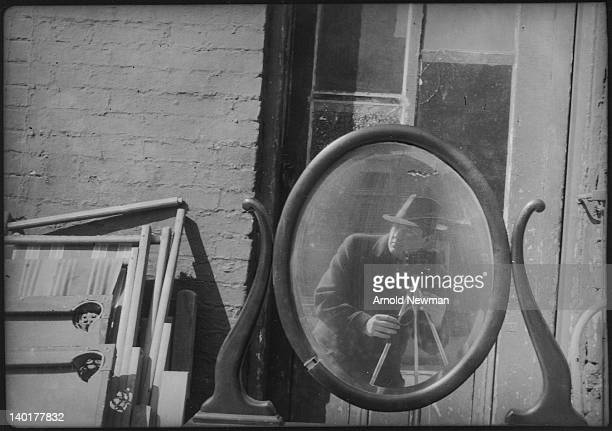 Selfportrait of American photographer Arnold Newman 1930s or 1940s