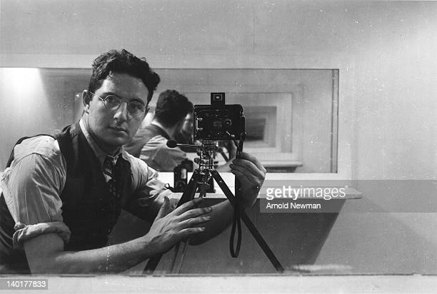 Selfportrait of American photographer Arnold Newman late 1930s