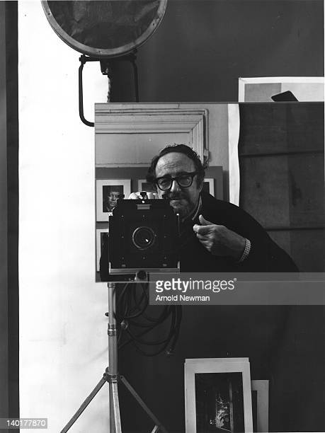 Selfportrait of American photographer Arnold Newman mid to late 1980s