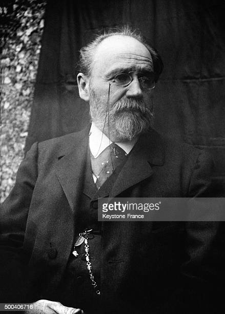 Selfportrait of author and journalist Emile Zola circa 1890 in France