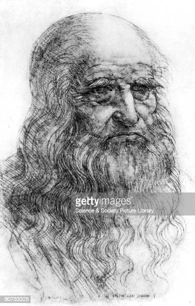 Selfportrait of Da Vinci was an artist engineer scientist and inventor whose drawings featured ideas such as a spinning wheel and a flying machine He...
