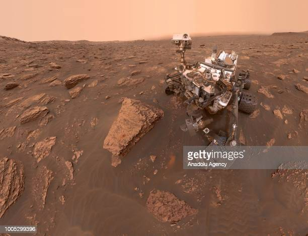 A selfportrait of NASA's Curiosity Mars rover shows the robot at a drilled sample site called Duluth on the lower slopes of Mount Sharp in Mars on...