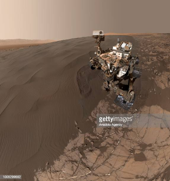 A selfportrait of NASA's Curiosity Mars rover shows the vehicle at Namib Dune where the rover's activities included scuffing into the dune with a...