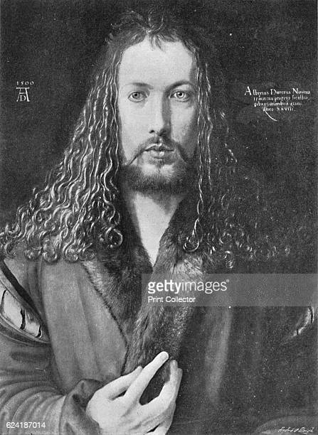 SelfPortrait' The painting is held by the Alte Pinakothek Munich From The Engravings of Albert Durer by Lionel Cust [Seeley and Co Limited London...