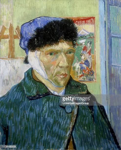 SelfPortrait with Bandaged Ear 1889 Vincent Van Gogh Dutch PostImpressionist artist