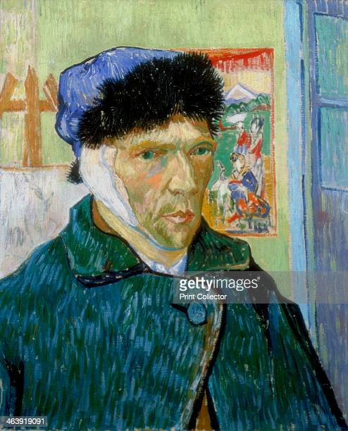 'SelfPortrait with Bandaged Ear' 1889 Vincent van Gogh painted this selfportrait after a quarrel with fellow artist Paul Gauguin at Arles during...