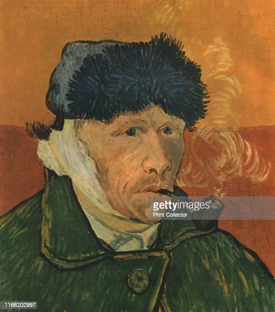 Self-Portrait with Bandaged Ear and Pipe', February 1889', . Van Gogh had cut off his ear with a razor during one of his periods of mental illness....