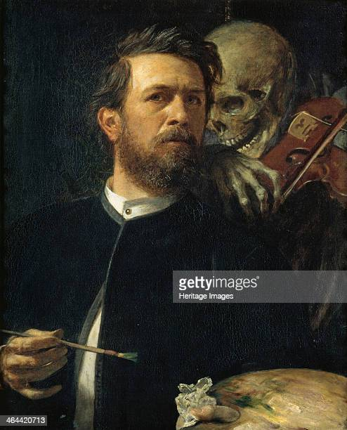 Selfportrait with Death Playing the Fiddle 1872 Found in the collection of the Staatliche Museen Berlin