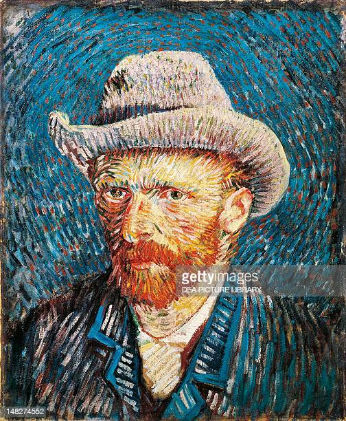 SelfPortrait with felt hat by Vincent van Gogh oil on canvas 44x375 cm Amsterdam Van Gogh Museum