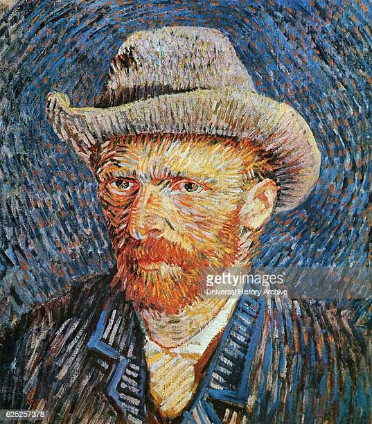 Selfportrait with Grey Felt Hat by Vincent van Gogh a Dutch PostImpressionist painter Dated 19th Century