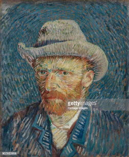 SelfPortrait with Grey Felt Hat Found in the Collection of Van Gogh Museum Amsterdam