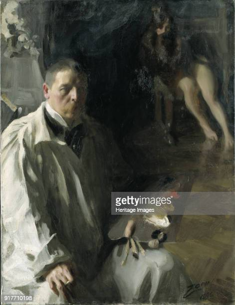 Selfportrait with Model Found in the Collection of Nationalmuseum Stockholm