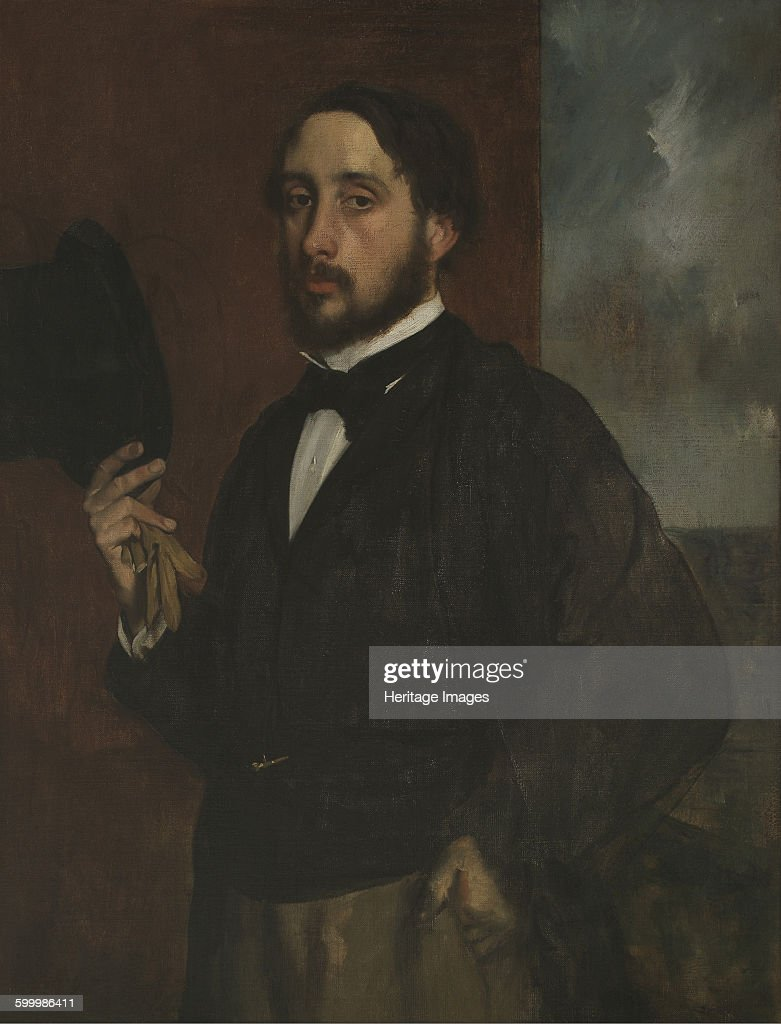 Self-portrait with Raised Hat, ca 1863 : News Photo