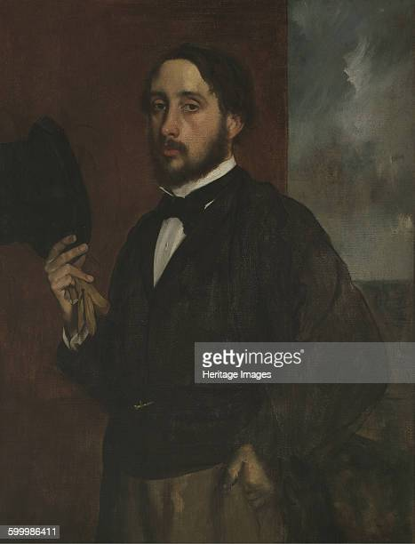 Selfportrait with Raised Hat ca 1863 Found in the collection of Museu Calouste Gulbenkian Lisbon Artist Degas Edgar