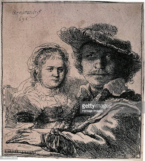 'SelfPortrait with Saskia' 1636 Rembrandt van Rhijn Found in the collection of the State Hermitage St Petersburg