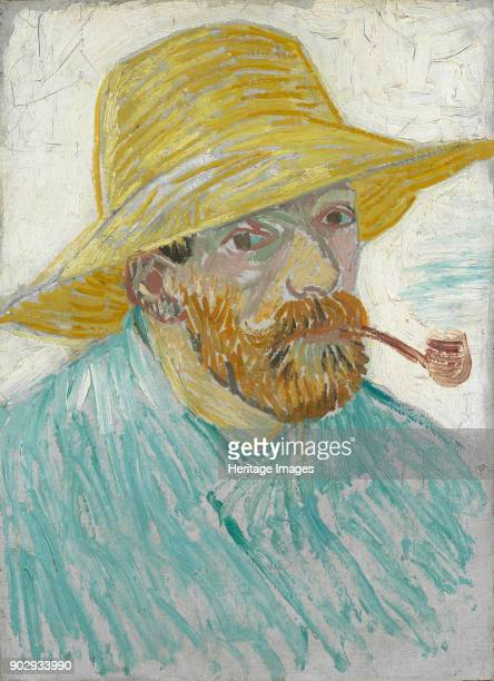 SelfPortrait with Straw Hat and Pipe Found in the Collection of Van Gogh Museum Amsterdam